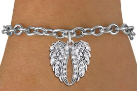 <bR>               EXCLUSIVELY OURS!!<Br>         AN ALLAN ROBIN DESIGN!!<BR>    CLICK HERE TO SEE 1000+ EXCITING<BR>       CHANGES THAT YOU CAN MAKE! <BR>       LEAD, NICKEL & CADMIUM FREE!!<BR>  W1342SB - AUSTRIAN CRYSTAL<BR>ANGEL WINGS CHARM & BRACELET <BR>           FROM $5.40 TO $9.85 �2012