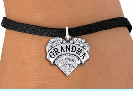 """<bR>                   EXCLUSIVELY OURS!!<Br>             AN ALLAN ROBIN DESIGN!!<BR>    CLICK HERE TO SEE 1000+ EXCITING<BR>       CHANGES THAT YOU CAN MAKE!<BR>       LEAD, NICKEL & CADMIUM FREE!!<BR>W1343SB - AUSTRIAN CRYSTAL """"GRANDMA"""" <BR>              HEART CHARM & BRACELET <BR>           FROM $5.40 TO $9.85 �2012"""