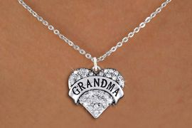 "<bR>                  EXCLUSIVELY OURS!!<Br>            AN ALLAN ROBIN DESIGN!!<BR>   CLICK HERE TO SEE 1000+ EXCITING<BR>      CHANGES THAT YOU CAN MAKE!<BR>     LEAD, NICKEL & CADMIUM FREE!!<BR>W1343SN - AUSTRIAN CRYSTAL ""GRANDMA"" <BR>          HEART CHARM & NECKLACE <BR>         FROM $5.40 TO $9.85 �2012"