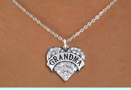 """<bR>                  EXCLUSIVELY OURS!!<Br>            AN ALLAN ROBIN DESIGN!!<BR>   CLICK HERE TO SEE 1000+ EXCITING<BR>      CHANGES THAT YOU CAN MAKE!<BR>     LEAD, NICKEL & CADMIUM FREE!!<BR>W1343SN - AUSTRIAN CRYSTAL """"GRANDMA"""" <BR>          HEART CHARM & NECKLACE <BR>         FROM $5.40 TO $9.85 �2012"""