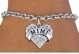 """<bR>                   EXCLUSIVELY OURS!!<Br>             AN ALLAN ROBIN DESIGN!!<BR>    CLICK HERE TO SEE 1000+ EXCITING<BR>       CHANGES THAT YOU CAN MAKE!<BR>       LEAD, NICKEL & CADMIUM FREE!!<BR>W1344SB - AUSTRIAN CRYSTAL """"MIMI"""" <BR>              HEART CHARM & BRACELET <BR>           FROM $5.40 TO $9.85 �2012"""
