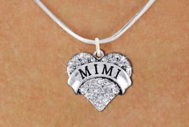 """<bR>                  EXCLUSIVELY OURS!!<Br>            AN ALLAN ROBIN DESIGN!!<BR>   CLICK HERE TO SEE 1000+ EXCITING<BR>      CHANGES THAT YOU CAN MAKE!<BR>     LEAD, NICKEL & CADMIUM FREE!!<BR>W1344SN - AUSTRIAN CRYSTAL """"MIMI"""" <BR>          HEART CHARM & NECKLACE <BR>         FROM $5.40 TO $9.85 �2012"""