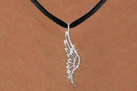 <bR>                  EXCLUSIVELY OURS!!<Br>            AN ALLAN ROBIN DESIGN!!<BR>   CLICK HERE TO SEE 1000+ EXCITING<BR>      CHANGES THAT YOU CAN MAKE!<BR>     LEAD, NICKEL & CADMIUM FREE!!<BR>W1346SN - SILVER TONE AND CRYSTAL <BR>SINGLE ANGEL WING CHARM NECKLACE <BR>         FROM $5.40 TO $9.85 �2012