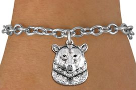 <bR>               EXCLUSIVELY OURS!!<Br>         AN ALLAN ROBIN DESIGN!! <BR>CLICK HERE TO SEE 1000+ EXCITING <BR>   CHANGES THAT YOU CAN MAKE!<BR>   LEAD, NICKEL & CADMIUM FREE!! <BR> W1351SB - DETAILED GRIZZLY BEAR <BR> WITH CLEAR CRYSTALS CHARM & BRACELET <BR>     FROM $5.40 TO $9.85 �2012