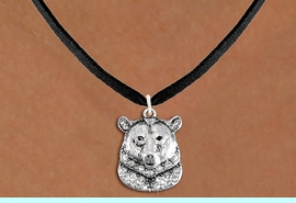 <bR>                  EXCLUSIVELY OURS!!<Br>            AN ALLAN ROBIN DESIGN!!<BR>   CLICK HERE TO SEE 1000+ EXCITING<BR>      CHANGES THAT YOU CAN MAKE!<BR>     LEAD, NICKEL & CADMIUM FREE!!<BR>W1351SN - DETAILED GRIZZLY BEAR <BR>WITH CLEAR CRYSTAL CHARM NECKLACE <BR>         FROM $5.40 TO $9.85 �2012