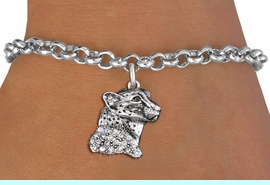 <bR>               EXCLUSIVELY OURS!!<Br>         AN ALLAN ROBIN DESIGN!! <BR>CLICK HERE TO SEE 1000+ EXCITING <BR>   CHANGES THAT YOU CAN MAKE!<BR>   LEAD, NICKEL & CADMIUM FREE!! <BR> W1353SB - DETAILED CHEETAH WITH <BR> CLEAR CRYSTALS CHARM & BRACELET <BR>     FROM $5.40 TO $9.85 �2012