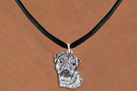 <bR>                  EXCLUSIVELY OURS!!<Br>            AN ALLAN ROBIN DESIGN!!<BR>   CLICK HERE TO SEE 1000+ EXCITING<BR>      CHANGES THAT YOU CAN MAKE!<BR>     LEAD, NICKEL & CADMIUM FREE!!<BR>W1356SN - DETAILED BULLDOG HEAD <BR>WITH CLEAR CRYSTALS CHARM NECKLACE <BR>         FROM $5.40 TO $9.85 �2012