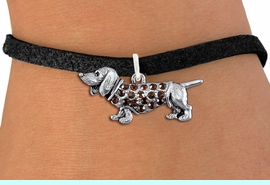 <bR>               EXCLUSIVELY OURS!!<Br>         AN ALLAN ROBIN DESIGN!! <BR>CLICK HERE TO SEE 1000+ EXCITING <BR>   CHANGES THAT YOU CAN MAKE!<BR>   LEAD, NICKEL & CADMIUM FREE!! <BR> W1357SB - DETAILED DASCHSHUND <BR> WITH CRYSTALS CHARM & BRACELET <BR>     FROM $5.40 TO $9.85 �2012