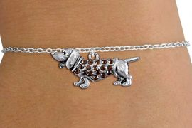 <bR>               EXCLUSIVELY OURS!!<Br>         AN ALLAN ROBIN DESIGN!! <BR>CLICK HERE TO SEE 1000+ EXCITING <BR>   CHANGES THAT YOU CAN MAKE!<BR>   LEAD, NICKEL & CADMIUM FREE!! <BR> W1357SB - DETAILED DASCHSHUND <BR> WITH CRYSTALS & CHILDS BRACELET <BR>     FROM $5.40 TO $9.85 �2012