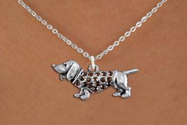 <bR>                  EXCLUSIVELY OURS!!<Br>            AN ALLAN ROBIN DESIGN!!<BR>   CLICK HERE TO SEE 1000+ EXCITING<BR>      CHANGES THAT YOU CAN MAKE!<BR>     LEAD, NICKEL & CADMIUM FREE!!<BR>W1357SN - DETAILED DACHSHUND <BR>WITH TOPAZ CRYSTALS CHARM NECKLACE <BR>         FROM $5.40 TO $9.85 �2012