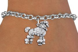 <bR>               EXCLUSIVELY OURS!!<Br>         AN ALLAN ROBIN DESIGN!! <BR>CLICK HERE TO SEE 1000+ EXCITING <BR>   CHANGES THAT YOU CAN MAKE!<BR>   LEAD, NICKEL & CADMIUM FREE!! <BR> W1358SB - DETAILED POODLE <BR> WITH CRYSTALS CHARM & BRACELET <BR>     FROM $5.40 TO $9.85 �2012