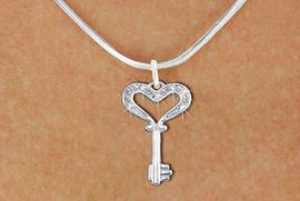 "<bR>                  EXCLUSIVELY OURS!!<Br>            AN ALLAN ROBIN DESIGN!!<BR>   CLICK HERE TO SEE 1000+ EXCITING<BR>      CHANGES THAT YOU CAN MAKE!<BR>     LEAD, NICKEL & CADMIUM FREE!!<BR>W1365SN - ""KEY TO MY HEART"" <BR>  CRYSTAL CHARM AND NECKLACE <BR>         FROM $5.40 TO $9.85 �2012"