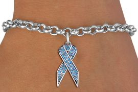 <bR>               EXCLUSIVELY OURS!! <Br>          AN ALLAN ROBIN DESIGN!! <BR> CLICK HERE TO SEE 1000+ EXCITING <BR>    CHANGES THAT YOU CAN MAKE!<BR>    LEAD, NICKEL & CADMIUM FREE!! <BR> W1383SB - TURQUOISE AWARENESS <BR> CRYSTAL RIBBON CHARM & BRACELET <BR>      FROM $5.40 TO $9.85 �2012