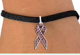 <bR>               EXCLUSIVELY OURS!! <Br>           AN ALLAN ROBIN DESIGN!! <BR>  CLICK HERE TO SEE 1000+ EXCITING <BR>     CHANGES THAT YOU CAN MAKE!<BR>     LEAD, NICKEL & CADMIUM FREE!! <BR>  W1384SB - RED AWARENESS <BR>  CRYSTAL RIBBON CHARM & BRACELET <BR>       FROM $5.40 TO $9.85 �2013