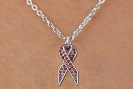 <bR>                  EXCLUSIVELY OURS!! <Br>              AN ALLAN ROBIN DESIGN!! <BR>     CLICK HERE TO SEE 1000+ EXCITING <BR>        CHANGES THAT YOU CAN MAKE! <BR>       LEAD, NICKEL & CADMIUM FREE!! <BR> W1384SN - RED AWARENESS CRYSTAL <BR>RIBBON CHARM AND CHILD'S NECKLACE <BR>           FROM $5.40 TO $9.85 �2013