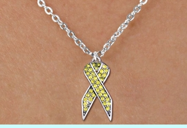 <bR>                  EXCLUSIVELY OURS!! <Br>              AN ALLAN ROBIN DESIGN!! <BR>     CLICK HERE TO SEE 1000+ EXCITING <BR>        CHANGES THAT YOU CAN MAKE! <BR>       LEAD, NICKEL & CADMIUM FREE!! <BR> W1385SN - YELLOW AWARENESS CRYSTAL <BR>RIBBON CHARM AND CHILD'S NECKLACE <BR>           FROM $5.40 TO $9.85 �2013