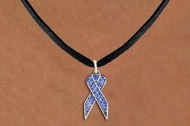 <bR>                  EXCLUSIVELY OURS!! <Br>              AN ALLAN ROBIN DESIGN!! <BR>     CLICK HERE TO SEE 1000+ EXCITING <BR>        CHANGES THAT YOU CAN MAKE! <BR>       LEAD, NICKEL & CADMIUM FREE!! <BR> W1387SN - BLUE AWARENESS CRYSTAL <BR>     RIBBON CHARM AND NECKLACE <BR>           FROM $5.55 TO $9.00 �2013