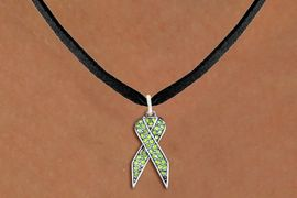 <bR>                  EXCLUSIVELY OURS!! <Br>              AN ALLAN ROBIN DESIGN!! <BR>     CLICK HERE TO SEE 1000+ EXCITING <BR>        CHANGES THAT YOU CAN MAKE! <BR>       LEAD, NICKEL & CADMIUM FREE!! <BR>W1388SN - LIME GREEN AWARENESS CRYSTAL <BR>     RIBBON CHARM AND NECKLACE <BR>           FROM $5.55 TO $9.00 �2013