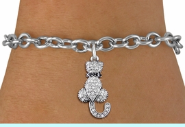 <bR>                EXCLUSIVELY OURS!! <Br>            AN ALLAN ROBIN DESIGN!! <BR>   CLICK HERE TO SEE 1000+ EXCITING <BR>      CHANGES THAT YOU CAN MAKE!<BR>      LEAD, NICKEL & CADMIUM FREE!! <BR> W1394SB - SILVER TONE AND JET CRYSTAL <BR>     SITTING CAT CHARM & BRACELET <BR>        FROM $5.40 TO $9.85 �2013