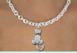 <bR>                   EXCLUSIVELY OURS!! <Br>               AN ALLAN ROBIN DESIGN!! <BR>      CLICK HERE TO SEE 1000+ EXCITING <BR>         CHANGES THAT YOU CAN MAKE! <BR>        LEAD, NICKEL & CADMIUM FREE!! <BR> W1394SN - SILVER TONE AND JET CRYSTAL <BR>    SITTING CAT CHARM AND NECKLACE <BR>            FROM $5.40 TO $9.85 �2013