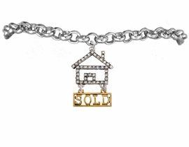 "<bR>                            EXCLUSIVELY OURS!! <Br>                       AN ALLAN ROBIN DESIGN!! <BR>              CLICK HERE TO SEE 1000+ EXCITING <BR>                    CHANGES THAT YOU CAN MAKE! <BR>                 LEAD, NICKEL & CADMIUM FREE!! <BR> W1722B2 - SILVER AND GOLD TONE REALTY ""SOLD"" <BR>            CLEAR CRYSTAL HOUSE CHARM & BRACELET <BR>                     FROM $5.98 TO $12.85 �2015"