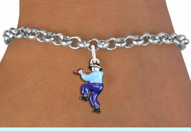 <bR>                     EXCLUSIVELY OURS!!<BR>               AN ALLAN ROBIN DESIGN!!<BR>      CLICK HERE TO SEE 1000+ EXCITING<BR>         CHANGES THAT YOU CAN MAKE!<BR>                  LEAD & NICKEL FREE!! <BR>W1301SB - SILVER TONE HAND PAINTED <BR>SQUARE DANCE FIDDLER CHARM BRACELET <BR>           FROM $4.15 TO $8.00 �2012
