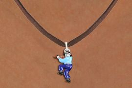 <bR>               EXCLUSIVELY OURS!!<BR>         AN ALLAN ROBIN DESIGN!!<BR>CLICK HERE TO SEE 1000+ EXCITING<BR>   CHANGES THAT YOU CAN MAKE!<BR>                LEAD & NICKEL FREE!! <BR>W1301SN -  SILVER TONE HAND PAINTED <Br>SQUARE DANCE FIDDLER CHARM & NECKLACE <BR>      FROM $4.50 TO $8.35 �2012