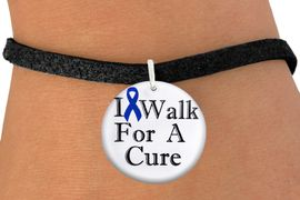 "<bR>               EXCLUSIVELY OURS!!<BR>         AN ALLAN ROBIN DESIGN!!<BR>CLICK HERE TO SEE 1000+ EXCITING <BR>   CHANGES THAT YOU CAN MAKE! <BR>            LEAD & NICKEL FREE!!<BR>W1305SB - BLUE RIBBON AWARENESS <BR>""I WALK FOR A CURE"" CHARM & BRACELET <BR>      FROM $4.15 TO $8.00 �2012"