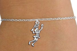 <bR>                       EXCLUSIVELY OURS!!<BR>                 AN ALLAN ROBIN DESIGN!!<BR>       CLICK HERE TO SEE 1000+ EXCITING<BR>           CHANGES THAT YOU CAN MAKE!<BR>                      LEAD & NICKEL FREE!!<BR>      W1389SB - TENNIS PLAYER CHARM<Br>  & BRACELET FROM $4.15 TO $8.00 &#169;2013