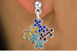 <bR>                   EXCLUSIVELY OURS!!<Br>             AN ALLAN ROBIN DESIGN!!<BR>    CLICK HERE TO SEE 120+ EXCITING<BR>       CHANGES THAT YOU CAN MAKE!<BR>       LEAD, NICKEL & CADMIUM FREE!!<BR>W1127SE - CRYSTAL AUTISM PUZZLE CHARM<BR> EARRINGS FROM $4.95 TO $10.00 �2011