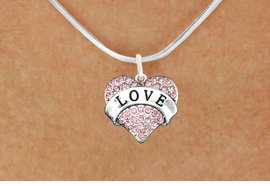 "<bR>              EXCLUSIVELY OURS!!<Br>        AN ALLAN ROBIN DESIGN!!<BR>CLICK HERE TO SEE 120+ EXCITING<BR>   CHANGES THAT YOU CAN MAKE!<BR>  LEAD, NICKEL & CADMIUM FREE!!<BR>W1137SN - ROSE CRYSTAL ""LOVE"" <BR>       HEART CHARM & NECKLACE <BR>     FROM $5.40 TO $9.85 �2012"