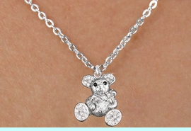 <bR>                      EXCLUSIVELY OURS!!<Br>                AN ALLAN ROBIN DESIGN!!<BR>       CLICK HERE TO SEE 120+ EXCITING<BR>          CHANGES THAT YOU CAN MAKE!<BR>          LEAD, NICKEL & CADMIUM FREE!!<BR>W1189SN - CRYSTAL TEDDY BEAR CHARM<BR> & CHILDRENS NECKLACE FROM $5.40 TO $9.85 �2012