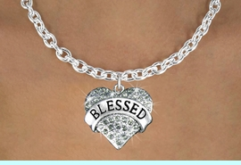 """<bR>                   EXCLUSIVELY OURS!!<Br>             AN ALLAN ROBIN DESIGN!!<BR>    CLICK HERE TO SEE 120+ EXCITING<BR>       CHANGES THAT YOU CAN MAKE!<BR>     LEAD, NICKEL & CADMIUM FREE!!<BR>W1211SN - SMOKY CRYSTAL """"BLESSED"""" <BR>            HEART CHARM & NECKLACE <BR>          FROM $5.40 TO $9.85 �2012"""