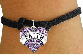 "<bR>                 EXCLUSIVELY OURS!!<Br>           AN ALLAN ROBIN DESIGN!!<BR>  CLICK HERE TO SEE 120+ EXCITING<BR>     CHANGES THAT YOU CAN MAKE!<BR>     LEAD, NICKEL & CADMIUM FREE!!<BR>W1212SB - PURPLE CRYSTAL ""FAITH""<BR> HEART CHARM & CHILDS  BRACELET<BR>         FROM $5.40 TO $9.85 �2012"