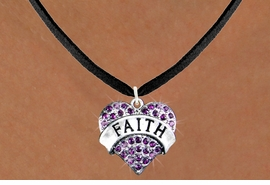 "<bR>                 EXCLUSIVELY OURS!!<Br>           AN ALLAN ROBIN DESIGN!! <BR>  CLICK HERE TO SEE 120+ EXCITING<BR>     CHANGES THAT YOU CAN MAKE!<BR>    LEAD, NICKEL & CADMIUM FREE!!<BR>W1212SN - PURPLE CRYSTAL ""FAITH"" <BR>          HEART CHARM & NECKLACE <BR>         FROM $5.40 TO $9.85 �2012"