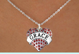 """<bR>               EXCLUSIVELY OURS!!<Br>         AN ALLAN ROBIN DESIGN!!<BR>CLICK HERE TO SEE 120+ EXCITING<BR>   CHANGES THAT YOU CAN MAKE!<BR>   LEAD, NICKEL & CADMIUM FREE!!<BR>W1213SN - RED CRYSTAL """"GRACE""""<BR>       HEART CHARM & NECKLACE <BR>      FROM $5.40 TO $9.85 �2012"""
