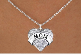 "<bR>                  EXCLUSIVELY OURS!!<Br>            AN ALLAN ROBIN DESIGN!!<BR>   CLICK HERE TO SEE 120+ EXCITING<BR>      CHANGES THAT YOU CAN MAKE!<BR>     LEAD, NICKEL & CADMIUM FREE!!<BR>W1215SN - AUSTRIAN CRYSTAL ""MOM"" <BR>          HEART CHARM & NECKLACE <BR>         FROM $5.40 TO $9.85 �2012"