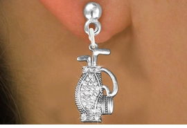 <bR>                   EXCLUSIVELY OURS!!<Br>             AN ALLAN ROBIN DESIGN!!<BR>    CLICK HERE TO SEE 120+ EXCITING<BR>       CHANGES THAT YOU CAN MAKE!<BR>       LEAD, NICKEL & CADMIUM FREE!!<BR>W1216SE - CRYSTAL GOLF BAG CHARM<BR> EARRINGS FROM $4.95 TO $10.00 �2012
