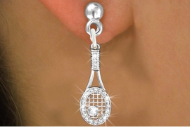 <bR>                   EXCLUSIVELY OURS!!<Br>             AN ALLAN ROBIN DESIGN!!<BR>    CLICK HERE TO SEE 120+ EXCITING<BR>       CHANGES THAT YOU CAN MAKE!<BR>       LEAD, NICKEL & CADMIUM FREE!!<BR>W1217SE - CRYSTAL TENNIS RACQUET CHARM<BR> EARRINGS FROM $4.95 TO $10.00 �2012