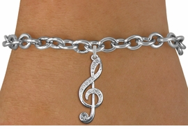 <bR>                   EXCLUSIVELY OURS!!<Br>             AN ALLAN ROBIN DESIGN!!<BR>    CLICK HERE TO SEE 120+ EXCITING<BR>       CHANGES THAT YOU CAN MAKE!<BR>       LEAD, NICKEL & CADMIUM FREE!!<BR>     W1252SB - CRYSTAL TREBLE CLEF <BR>    SILVER TONE CHARM & BRACELET <BR>           FROM $5.40 TO $9.85 �2012