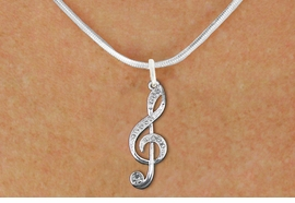 <bR>                  EXCLUSIVELY OURS!!<Br>            AN ALLAN ROBIN DESIGN!!<BR>   CLICK HERE TO SEE 120+ EXCITING<BR>      CHANGES THAT YOU CAN MAKE!<BR>     LEAD, NICKEL & CADMIUM FREE!! <BR>   W1252SN - CRYSTAL TREBLE CLEF <BR>   SILVER TONE CHARM & NECKLACE <BR>         FROM $5.40 TO $9.85 �2012