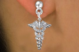 <bR>                 EXCLUSIVELY OURS!!<Br>           AN ALLAN ROBIN DESIGN!!<BR>  CLICK HERE TO SEE 120+ EXCITING<BR>     CHANGES THAT YOU CAN MAKE!<BR>     LEAD, NICKEL & CADMIUM FREE!!<BR>      W1253SE - CRYSTAL CADUCEUS <BR>      SILVER TONE CHARM EARRINGS <BR>       FROM $4.95 TO $10.00 �2012