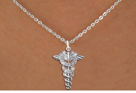 <bR>                  EXCLUSIVELY OURS!!<Br>            AN ALLAN ROBIN DESIGN!!<BR>   CLICK HERE TO SEE 120+ EXCITING<BR>      CHANGES THAT YOU CAN MAKE!<BR>     LEAD, NICKEL & CADMIUM FREE!! <BR>     W1253SN - CRYSTAL CADUCEUS <BR>   SILVER TONE CHARM & NECKLACE <BR>         FROM $5.40 TO $9.85 �2012