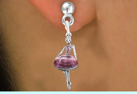 <bR>                 EXCLUSIVELY OURS!!<Br>           AN ALLAN ROBIN DESIGN!!<BR>  CLICK HERE TO SEE 120+ EXCITING<BR>     CHANGES THAT YOU CAN MAKE!<BR>     LEAD, NICKEL & CADMIUM FREE!!<BR>W1269SE - BEAUTIFUL BALLERINA <BR> ROSE CRYSTAL CHARM EARRINGS <BR>       FROM $4.95 TO $10.00 �2012
