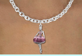 <bR>                  EXCLUSIVELY OURS!!<Br>            AN ALLAN ROBIN DESIGN!!<BR>   CLICK HERE TO SEE 120+ EXCITING<BR>      CHANGES THAT YOU CAN MAKE!<BR>     LEAD, NICKEL & CADMIUM FREE!!<BR>W1269SN - BEAUTIFUL BALLERINA <BR> ROSE CRYSTAL CHARM AND NECKLACE <BR>         FROM $5.40 TO $9.85 �2012