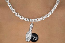 <bR>                  EXCLUSIVELY OURS!!<Br>            AN ALLAN ROBIN DESIGN!!<BR>   CLICK HERE TO SEE 120+ EXCITING<BR>      CHANGES THAT YOU CAN MAKE!<BR>     LEAD, NICKEL & CADMIUM FREE!!<BR> W1272SN - BOWLING BALL AND PIN <BR>      CRYSTAL CHARM AND NECKLACE <BR>         FROM $5.40 TO $9.85 �2012