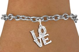"<bR>               EXCLUSIVELY OURS!!<Br>         AN ALLAN ROBIN DESIGN!! <BR>CLICK HERE TO SEE 120+ EXCITING <BR>   CHANGES THAT YOU CAN MAKE!<BR>   LEAD, NICKEL & CADMIUM FREE!! <BR>     W1273SB - BEAUTIFUL ""LOVE"" <BR>     CRYSTAL CHARM & BRACELET <BR>     FROM $5.40 TO $9.85 �2012"