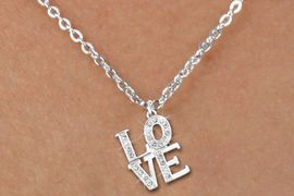 "<bR>                  EXCLUSIVELY OURS!!<Br>            AN ALLAN ROBIN DESIGN!!<BR>   CLICK HERE TO SEE 120+ EXCITING<BR>      CHANGES THAT YOU CAN MAKE!<BR>     LEAD, NICKEL & CADMIUM FREE!!<BR>        W1273SN - BEAUTIFUL ""LOVE"" <BR> CRYSTAL CHARM AND CHILDS NECKLACE <BR>         FROM $5.40 TO $9.85 �2012"