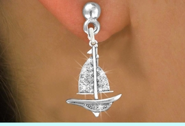 <bR>                 EXCLUSIVELY OURS!!<Br>           AN ALLAN ROBIN DESIGN!!<BR>  CLICK HERE TO SEE 120+ EXCITING<BR>     CHANGES THAT YOU CAN MAKE!<BR>     LEAD, NICKEL & CADMIUM FREE!!<BR>     W1274SE - DETAILED SAILBOAT <BR>      CRYSTAL CHARM EARRINGS <BR>       FROM $4.95 TO $10.00 �2012