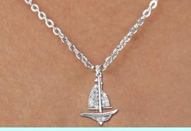 <bR>                  EXCLUSIVELY OURS!!<Br>            AN ALLAN ROBIN DESIGN!!<BR>   CLICK HERE TO SEE 120+ EXCITING<BR>      CHANGES THAT YOU CAN MAKE!<BR>     LEAD, NICKEL & CADMIUM FREE!!<BR>     W1274SN - DETAILED SAILBOAT <BR>CRYSTAL CHARM AND CHILDS NECKLACE <BR>         FROM $5.40 TO $9.85 �2012